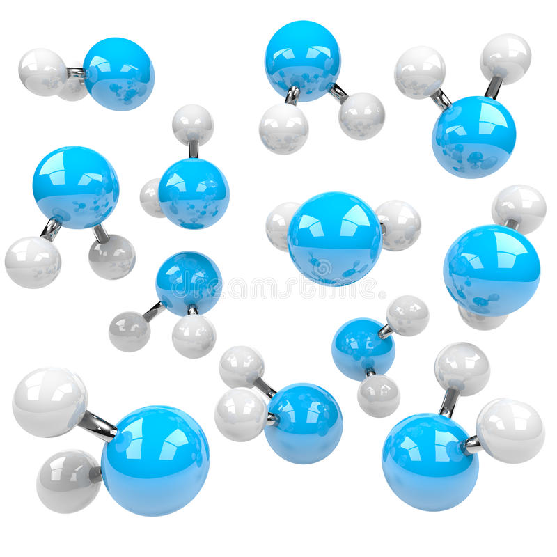 Group of Molecules vector illustration