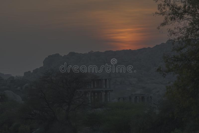 Hampi Monuments in south india stock photography
