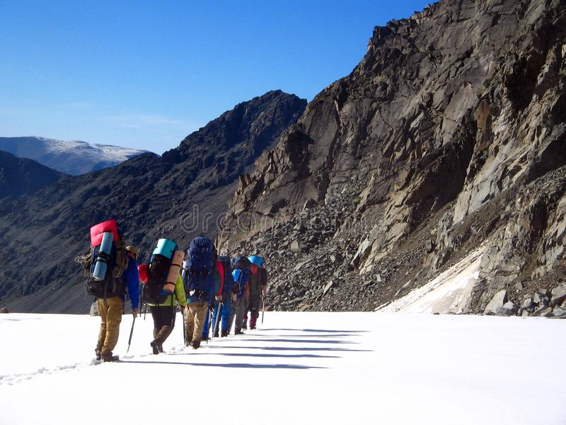 Group_of_Mountaineers photo stock