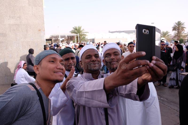 Group of mualaf muslim convert taking selfie royalty free stock images