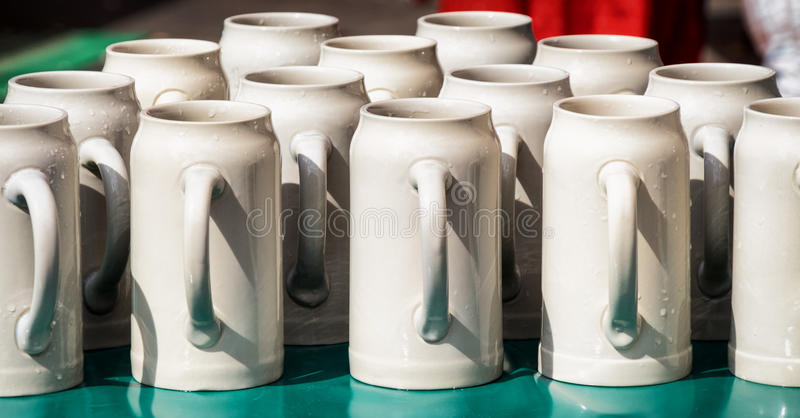 Group of mugs stock photography