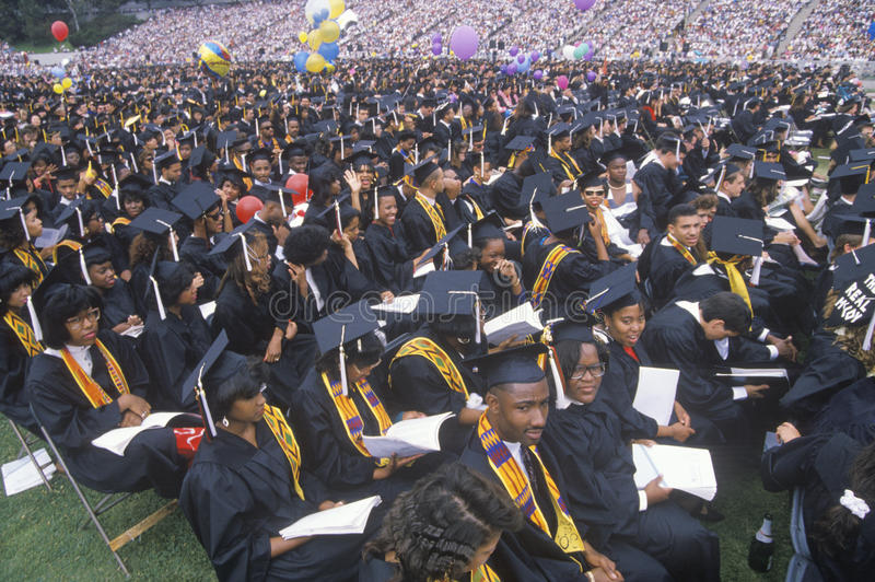 A group of multi ethnic graduates stock photo