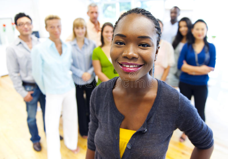Group of multiethnic business people stock photography