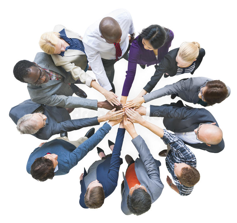 Group of Multiethnic Business People United as One stock image