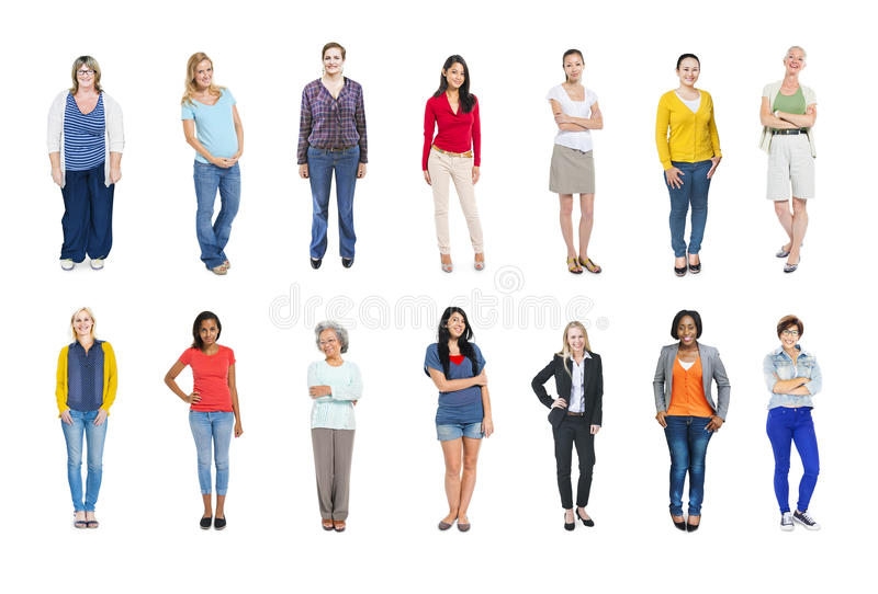 Group of Multiethnic Diverse Colorful People royalty free stock photo