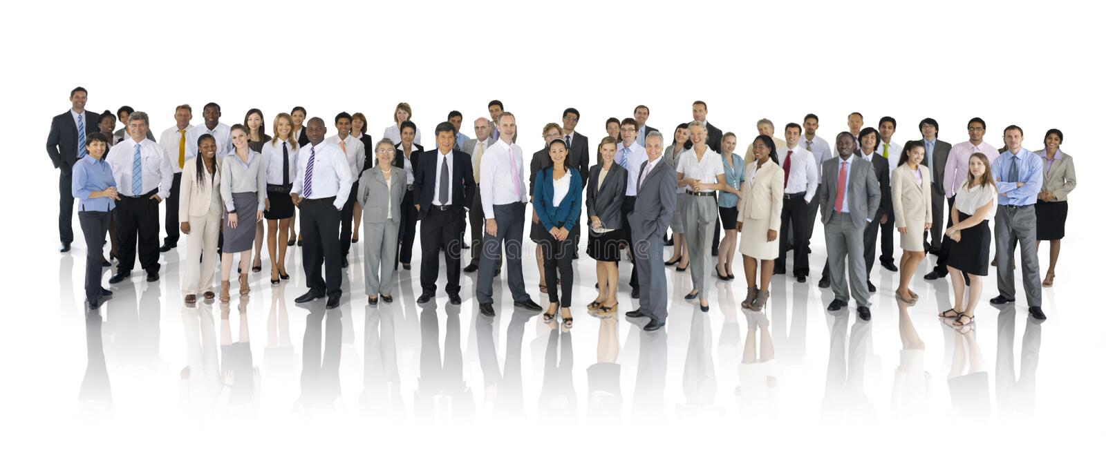 Group of Multiethnic World Business People royalty free stock image