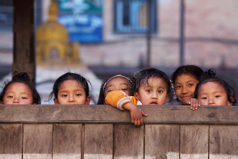 Group Of Nepalese Schoolgirl Editorial Stock Image