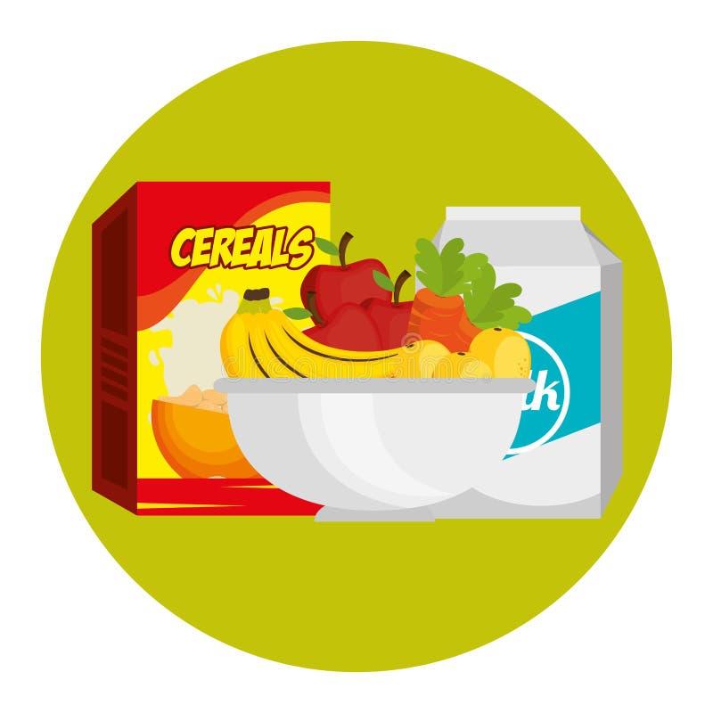 Group of nutritive food icons stock abbildung
