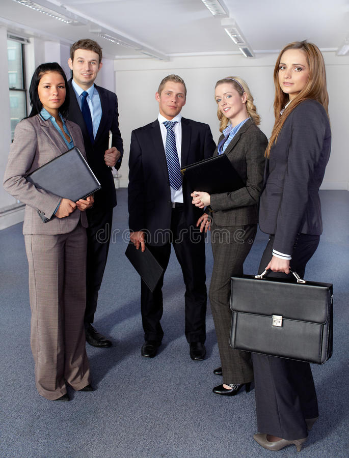 Free Group Of 5 Business People, All Standing Stock Photography - 21756962