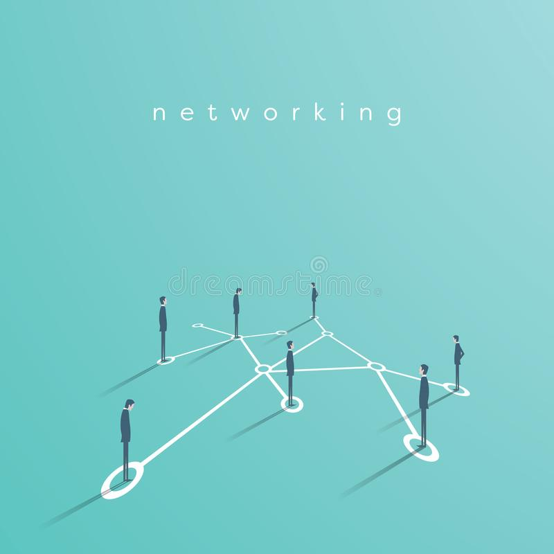 Free Group Of Business People Networking, Making Contacts Vector Concept Illustration. Symbol Of Communication, Teamwork Royalty Free Stock Photo - 115058515