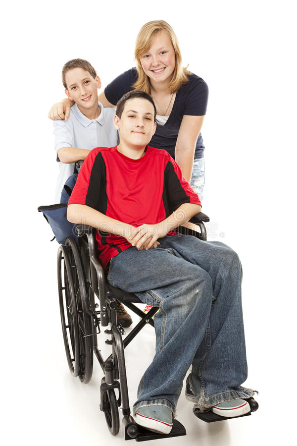 Free Group Of Kids - One Disabled Royalty Free Stock Photos - 13047508