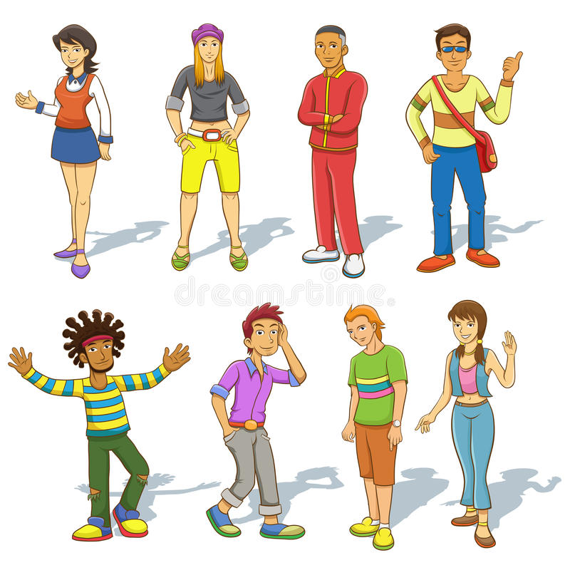 Free Group Of People Cartoon Stock Photo - 37430900