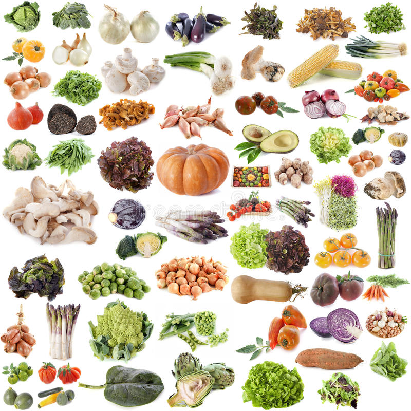 Free Group Of Vegetables Stock Image - 37180701