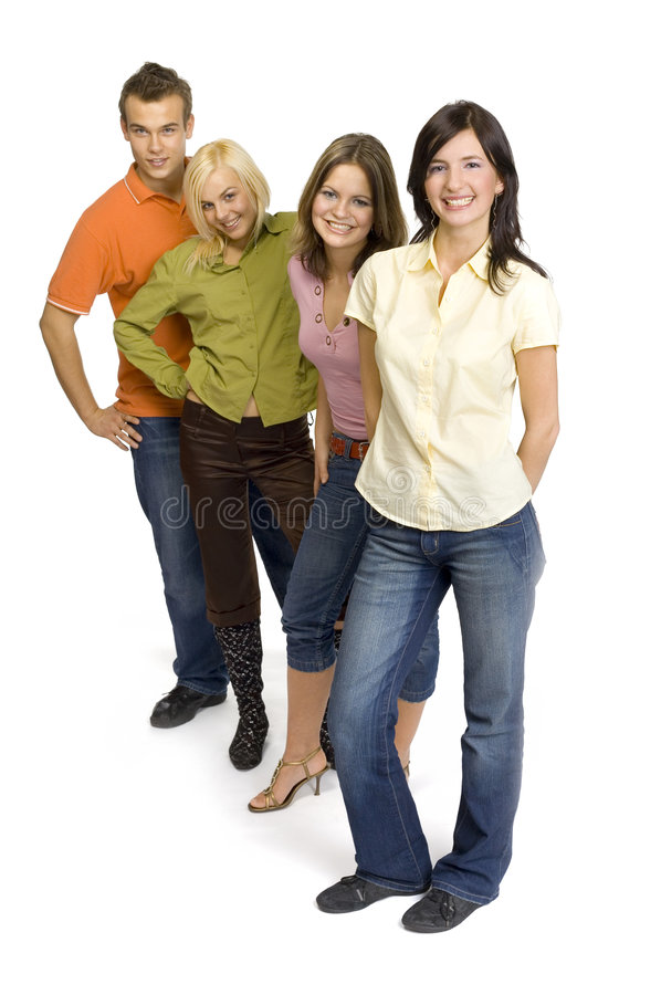 Free Group Of Young People Stock Photo - 2157970