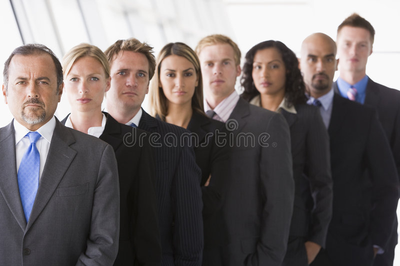 Download Group Of Office Staff Lined Up Stock Image - Image: 5293301