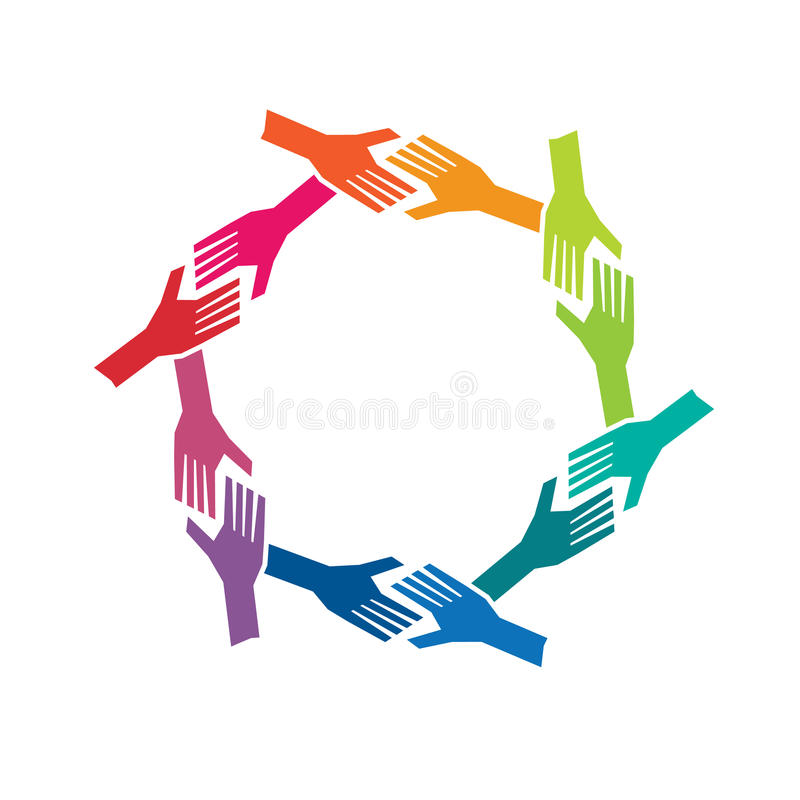 People Hands in Circle logo stock illustration