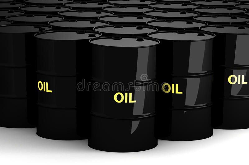 Group of Oil Drums stock illustration
