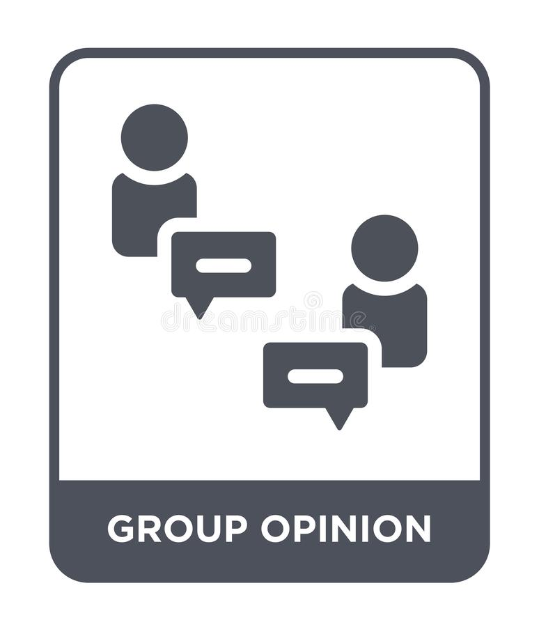 group opinion icon in trendy design style. group opinion icon isolated on white background. group opinion vector icon simple and vector illustration