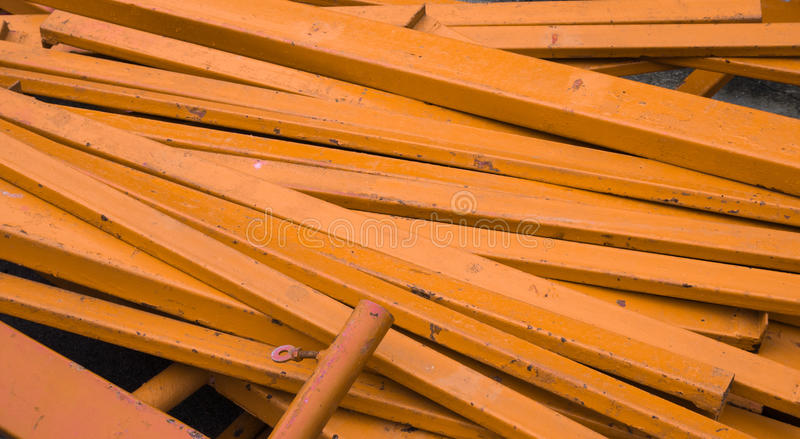 Group of orange steel rod background.  stock images