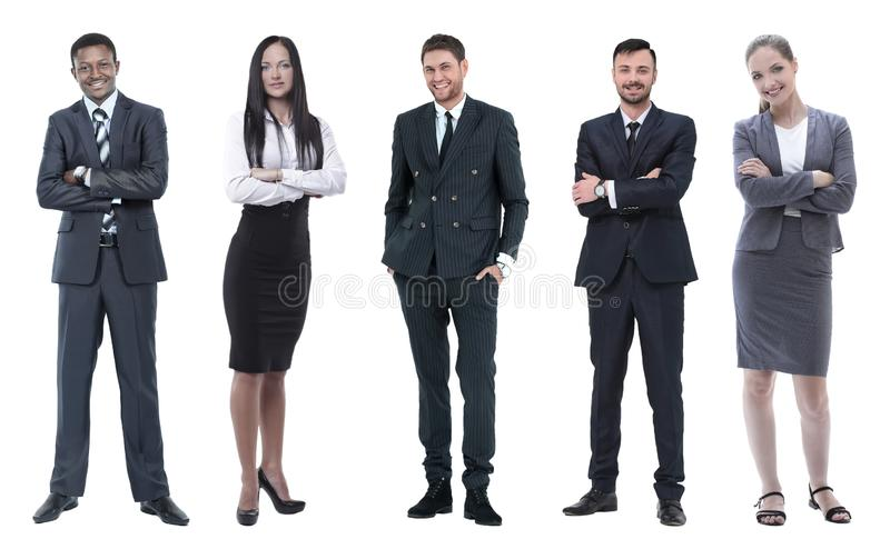 Collage of business people on white background royalty free stock images
