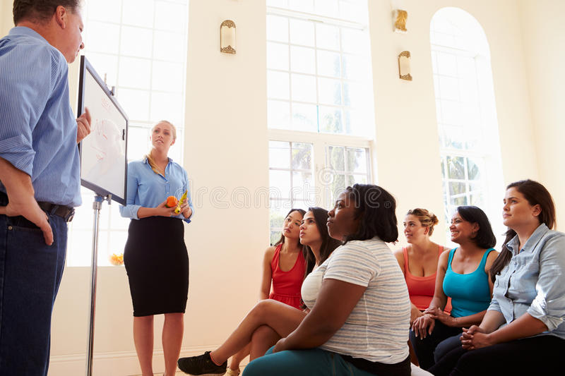 Group Of Overweight People Attending Diet Club stock image
