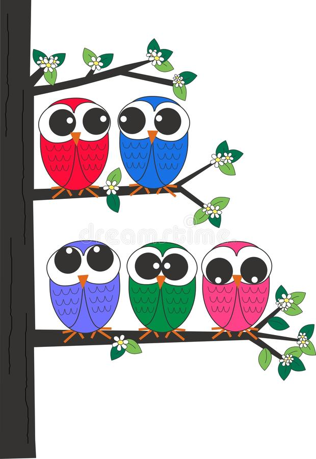 A Group Of Owls Stock Images