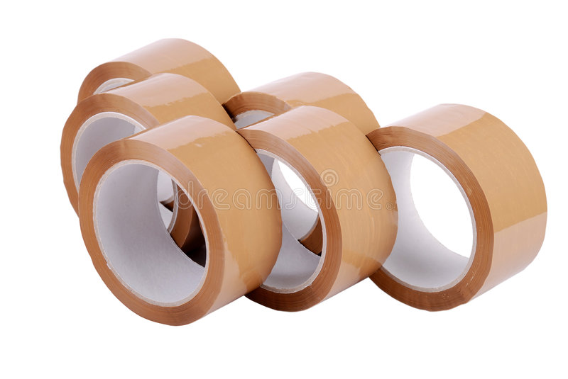 Download Group of packing tapes stock image. Image of moving, tape - 2815495