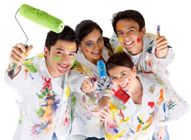 Group of painters