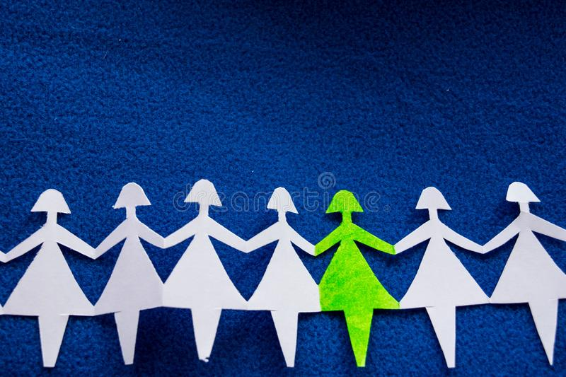 Group of paper women as a concept of togetherness, society etc. stock photos