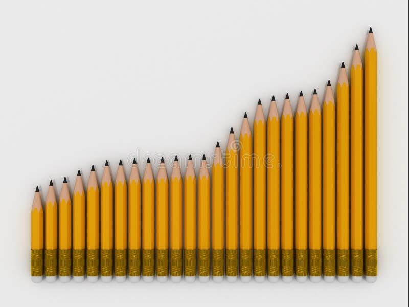 Download Group of pencils stock illustration. Illustration of color - 6531041