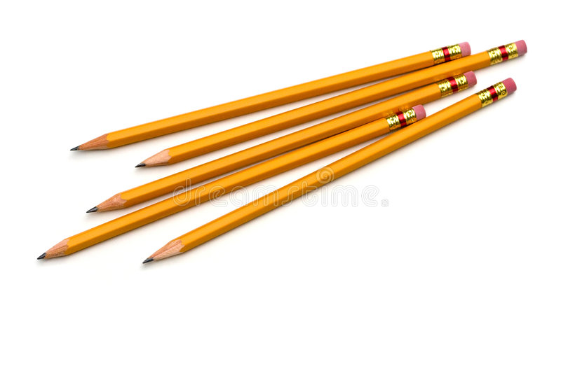 Group of Pencils. Isolated on white background stock photography