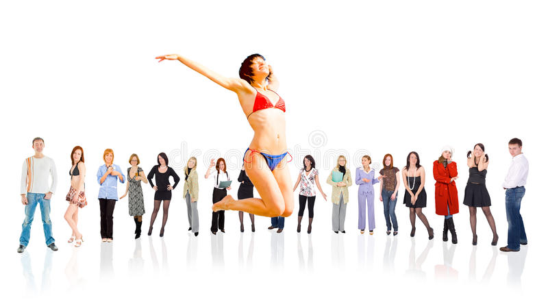 Group of people stock image
