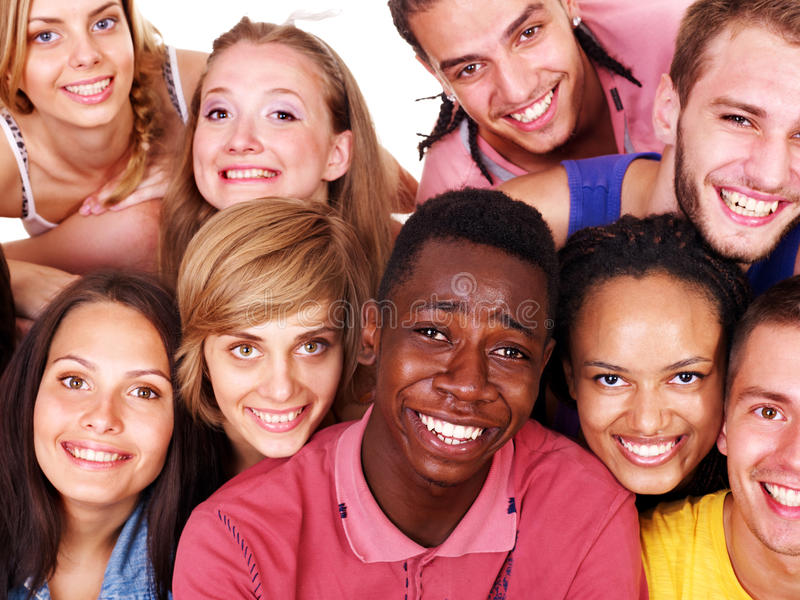Download Group people stock photo. Image of multinational, girl - 21437436