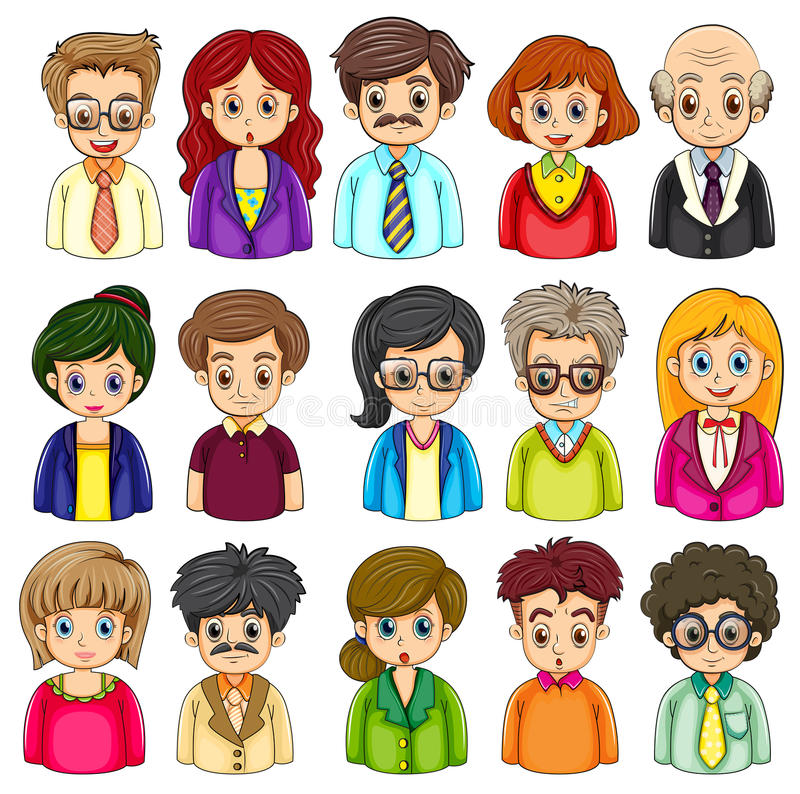 A group of people royalty free illustration