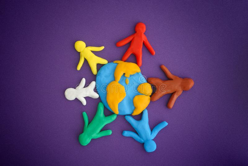 Group of people around the world stock images