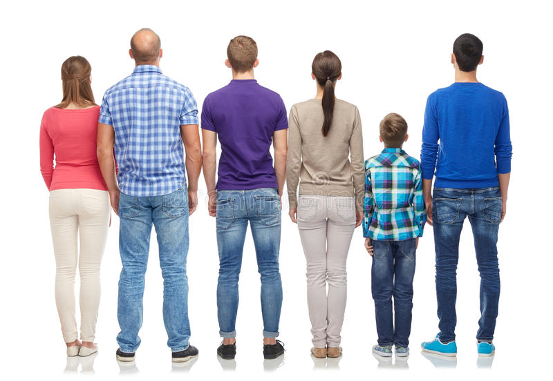 Group of people from back royalty free stock images