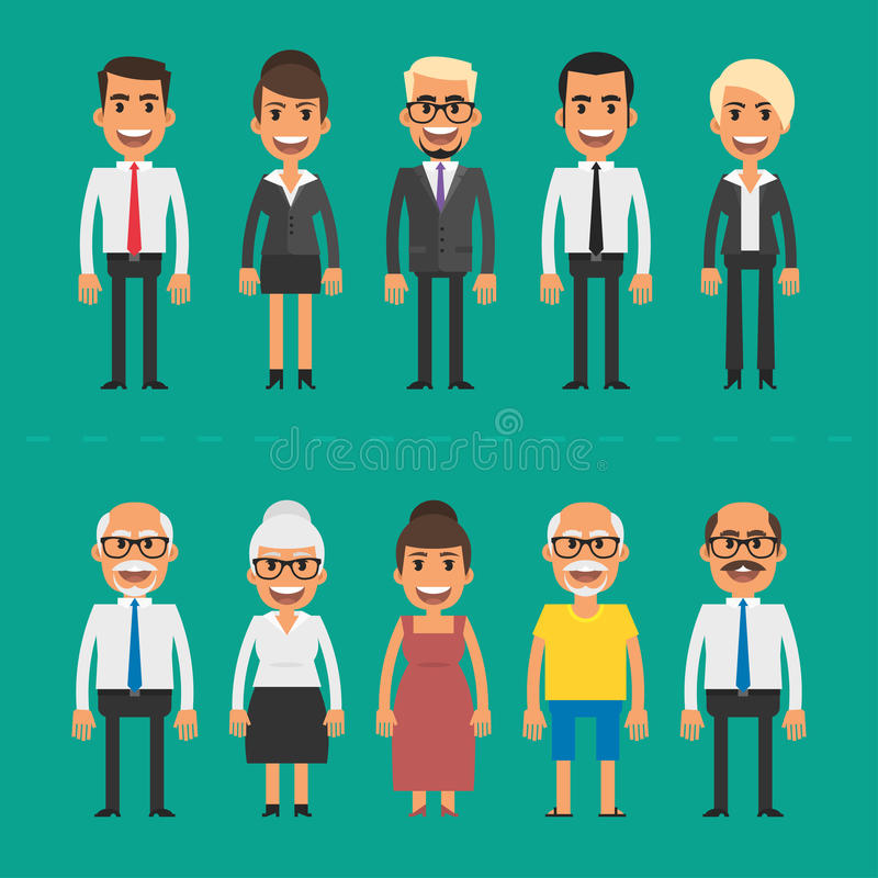 Free Group People Businessmen And Businesswomen Royalty Free Stock Images - 61176449