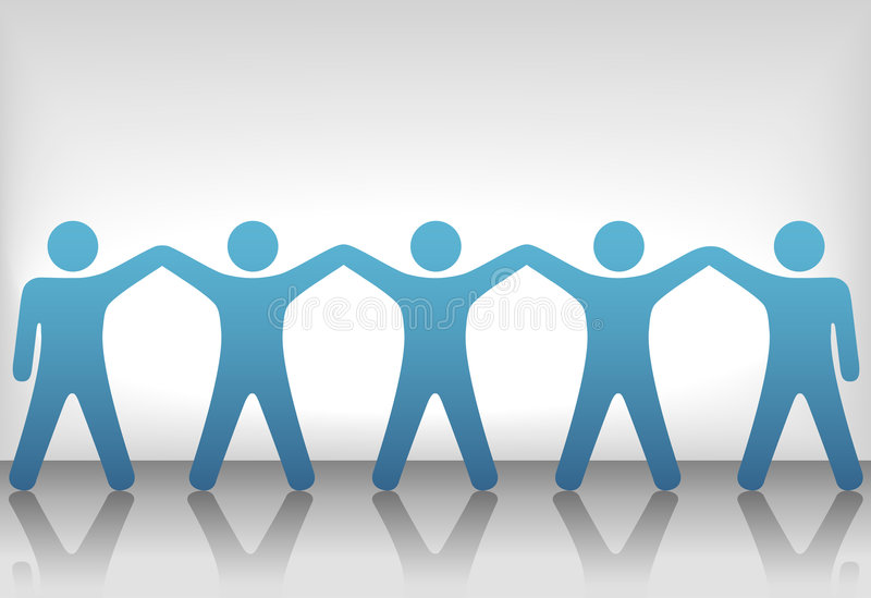 Group of People Celebrate Teamwork on Background royalty free stock images