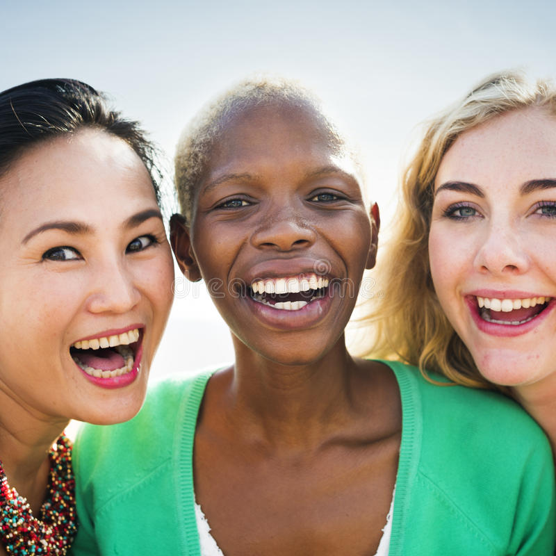 Group OF People Cheers Concept stock images