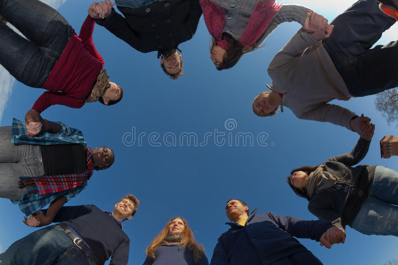 Group of People in circle royalty free stock photos