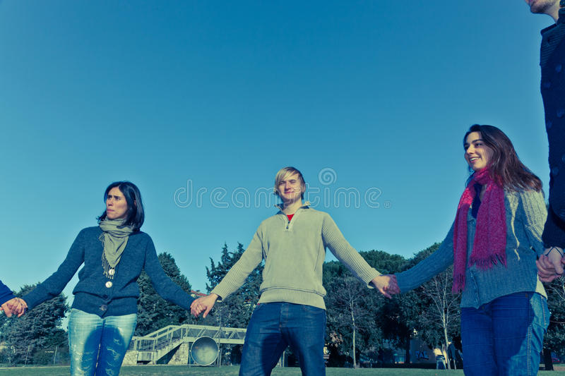 Group of People in circle royalty free stock image