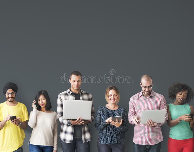 Group of People Connection Digital Device Concept stock photos