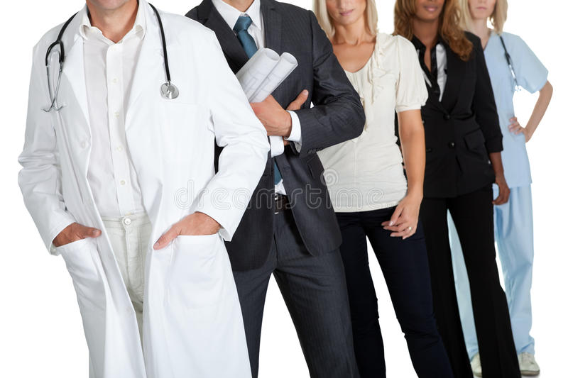 Group of people with different occupations royalty free stock photography
