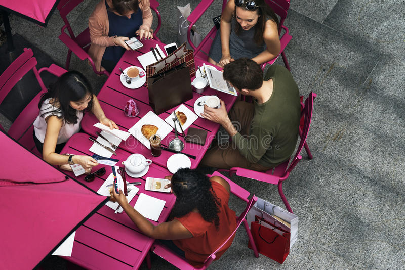 Group Of People Dining Concept royalty free stock images