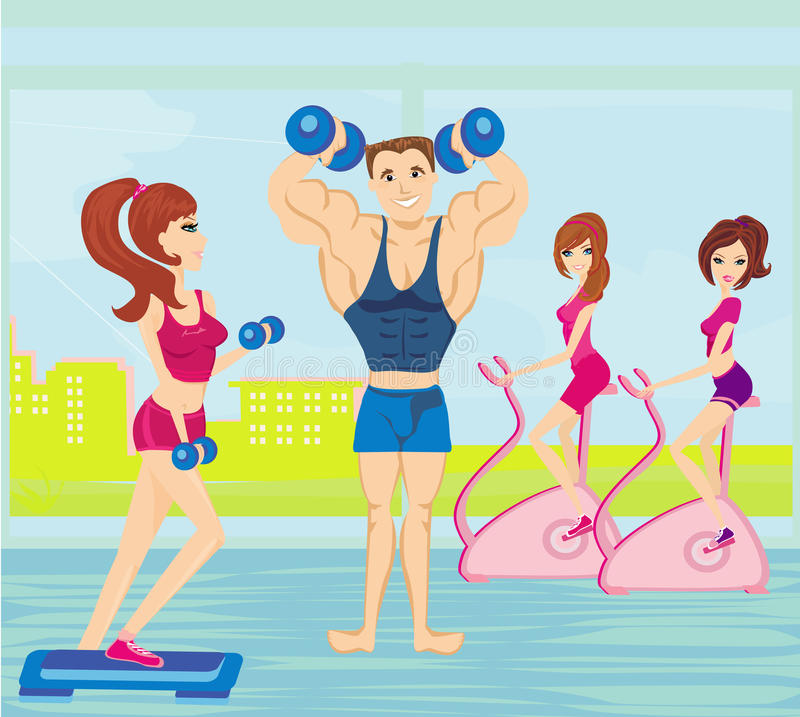 Download A Group Of People Exercising In The Gym Royalty Free Stock Photography - Image: 35603517