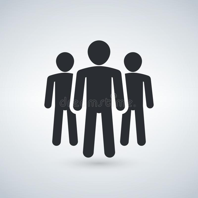 Group of people or group of users friends flat icon for apps and websites royalty free illustration