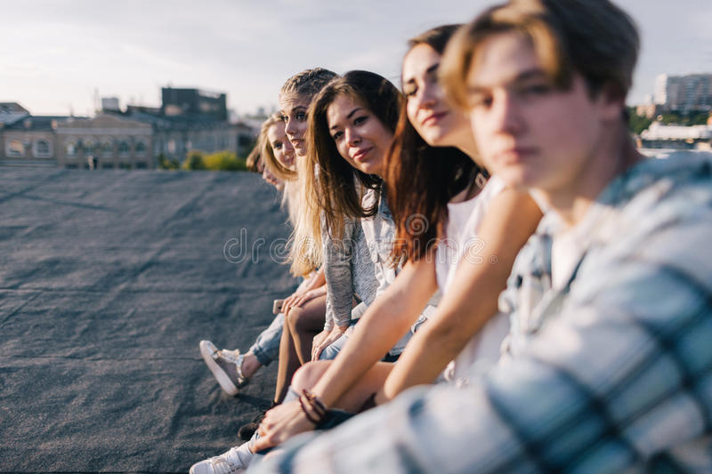 Group of people. Happy friendship background stock photos