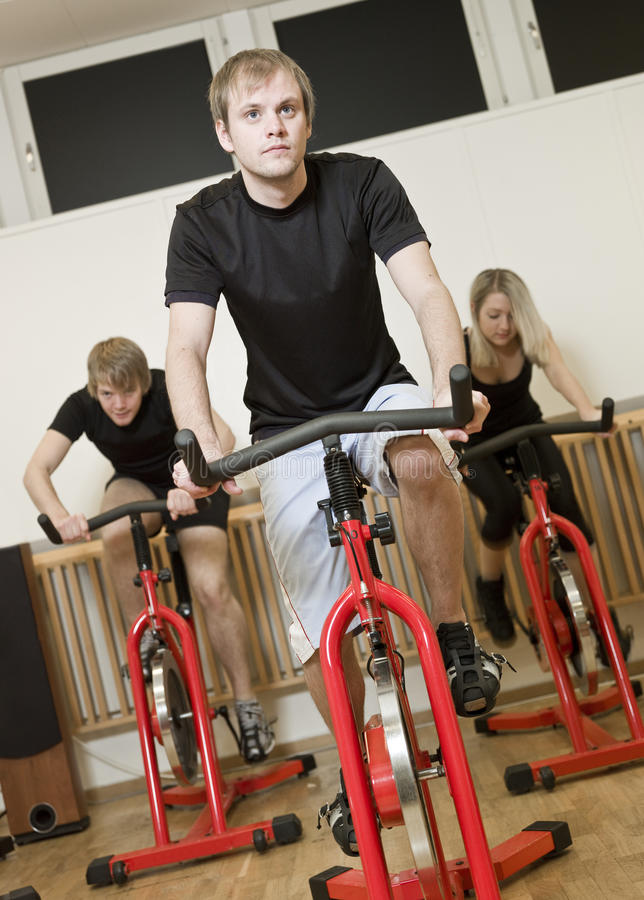 Group Of People Having Spinning Class Stock Photo