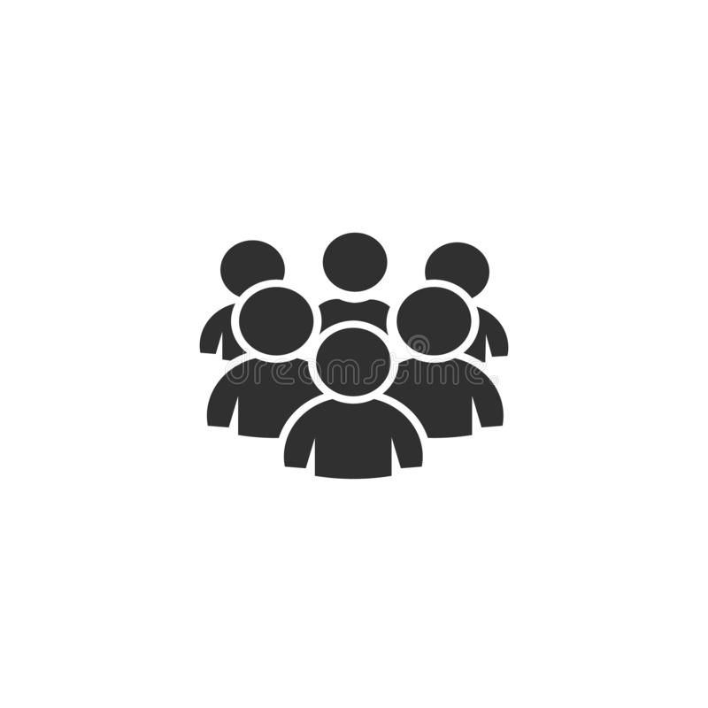 Group of people, icon vector. Design illustration vector illustration