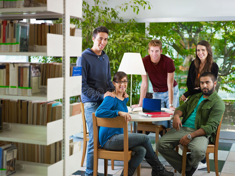 Download Group of people in library stock image. Image of carefree - 16716975